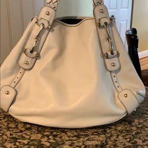 GUCCI Off White  Leather Hobo Handbag